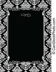 裝飾, 框架, 矢量, 黑色