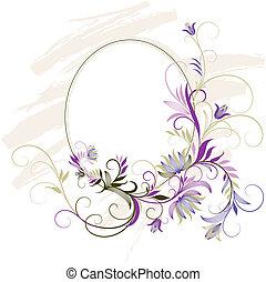 裝飾, 植物, 框架, 裝飾品