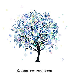 裝飾, 樹冬天