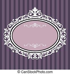 裝飾, 橢圓的框架, 葡萄酒