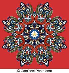 裝飾, 精神上, 花, 蓮花, 符號, 印第安語, 環繞