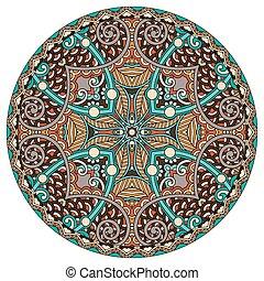 裝飾, 精神上, 蓮花, 符號, 流動, 壇場, 印第安語, 環繞