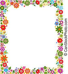 裝飾, 花卉疆界, 圖案