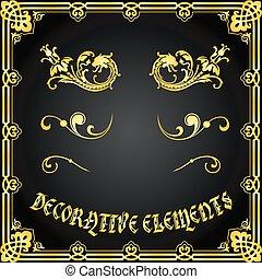 裝飾, 花的要素, 設計, 裝飾品