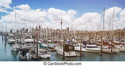 西蘭島, 港口, 奧克蘭, 游艇, 新