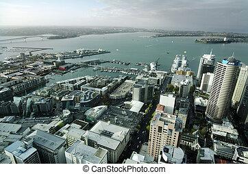 西蘭島, cbd, 奧克蘭, -, nz, 都市風景, 新