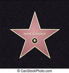 觀點。, name., 名聲, 地方, 頂部, 星