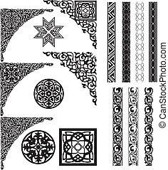 角落, 阿拉伯語, 裝飾品, 除法器