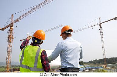 計划, 檢查, 工人, 站點, 經理, 建設
