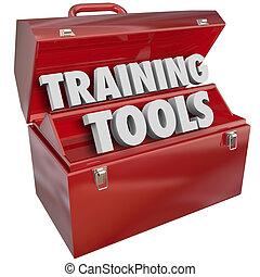 訓練, 成功, 技能, 學習, 新, 工具箱, 工具, 紅色