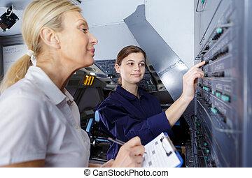 訓練, 肖像, 技師, 航空
