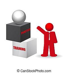 訓練, 詞, 事務, 實踐, 概念