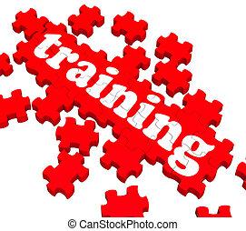 訓練, 難題, 顯示, 輔導, 事務