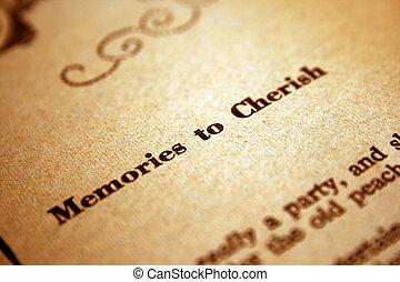 記憶, 珍愛