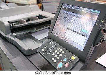 設備, 屏幕, 列印