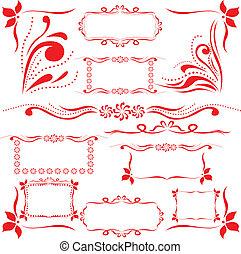 設計元素, 集合, 紅色