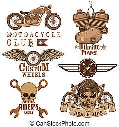 設計, 摩托車, 元素
