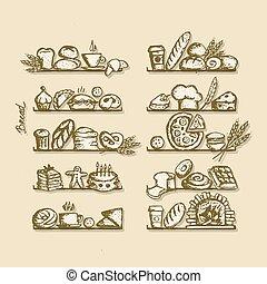 設計, 略述, 架子, 麵包房, 你