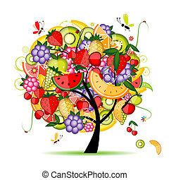 設計, 能量, 水果樹, 你