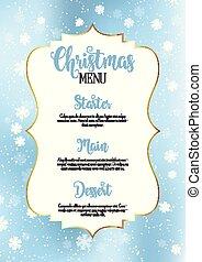 設計, 菜單, 聖誕節