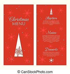 設計, 菜單, 裝飾, 聖誕節