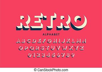 設計, 風格, 洗禮盆, retro, 現代