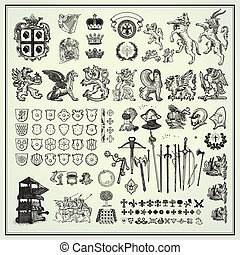 設計, heraldic, 元素