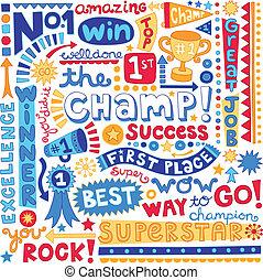 詞, 冠軍, 地方, 首先, doodles