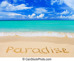 詞, 海灘, 天堂