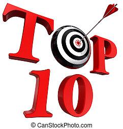 詞, 目標, 十, 頂部, 箭, 紅色