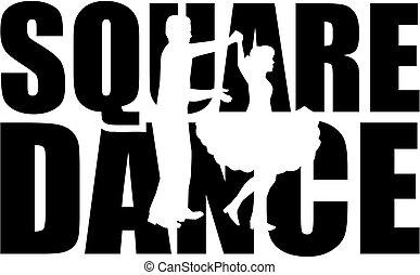 詞, 跳舞, cutout, 廣場