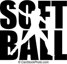詞, 黑色半面畫像, 壘球, cutout