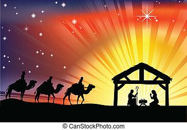 誕生, 基督教徒, 圣誕節場景