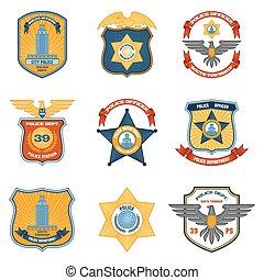 警察, 上色, 徽章