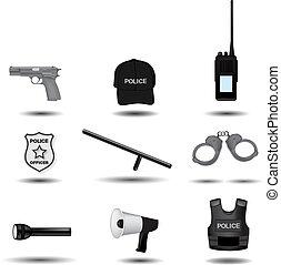 警察, 法律, 矢量, 強制執行