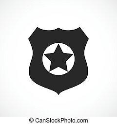 警察, 矢量, 徽章, 圖象