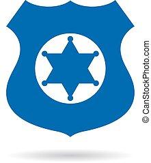 警察, 矢量, 徽章, 權力