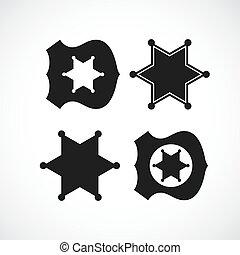 警察, 郡長徽章, 設計, 或者