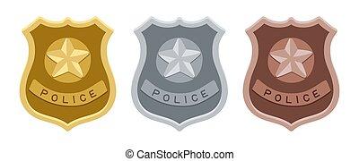 警察, 集合, 徽章