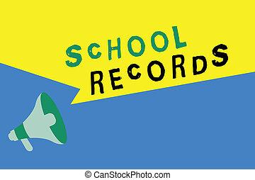 資訊, 學校, 概念, records., 事務, 正文, 大約, 寫, 詞, 孩子, kept, 傳記