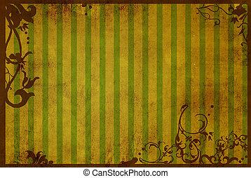 質地, 植物, 風格, 背景, 框架