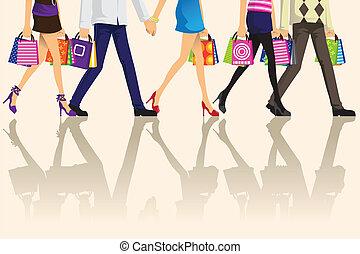 購物, 人們