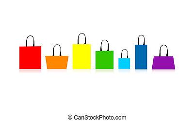 購物, 你, 袋子, 被隔离, 設計