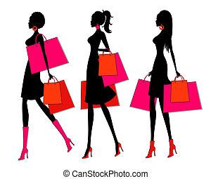 購物, 女孩