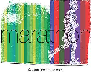 賽跑的人, 摘要, 插圖, 背景。, 矢量, 馬拉松