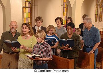 贊美詩, 唱, 教堂