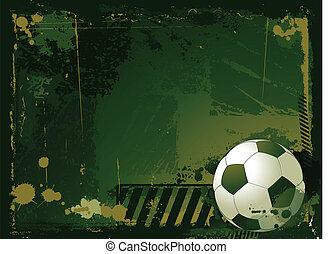 足球, grunge, 背景