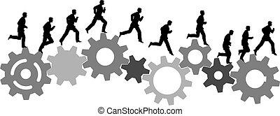 跑, 工業, 商用机械, 齒輪, 快點!, 人