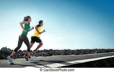 跑, 戶外運動, 人們