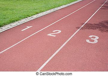 跑, all-weather, track.